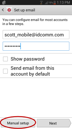 Android Email Setup - Set Up Email
